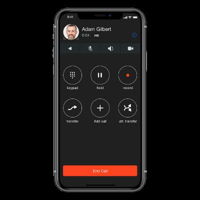Sangoma Connect IOS - Contact - Adam Gilbert