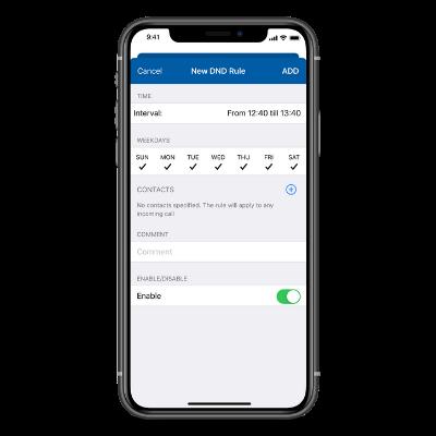Sangoma Connect IOS - New DND Rule