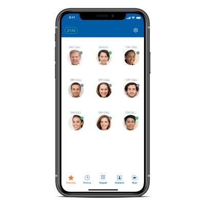 Sangoma Connect IOS - Contacts Screen