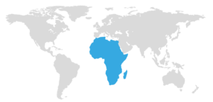 map with Africa highlighted